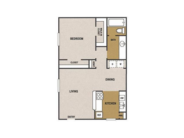 725 sq. ft. G floor plan