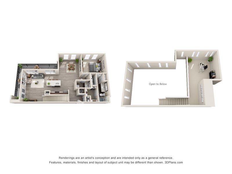 1,394 sq. ft. A7M floor plan