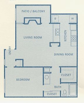 775 sq. ft. Lynx floor plan