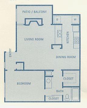 775 sq. ft. Lynx floor plan