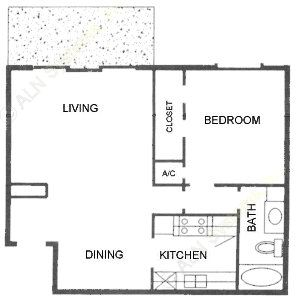 745 sq. ft. D ABP floor plan