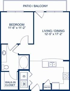 704 sq. ft. Knoll floor plan