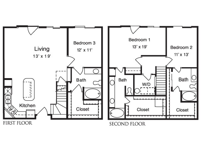 1,717 sq. ft. C5 floor plan