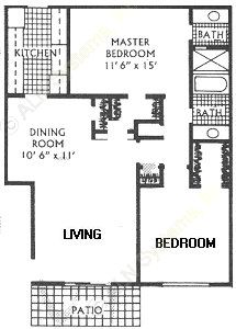 1,060 sq. ft. I floor plan