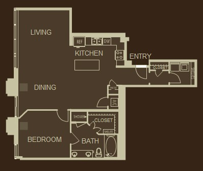 1,181 sq. ft. A8 floor plan