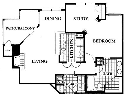 827 sq. ft. floor plan