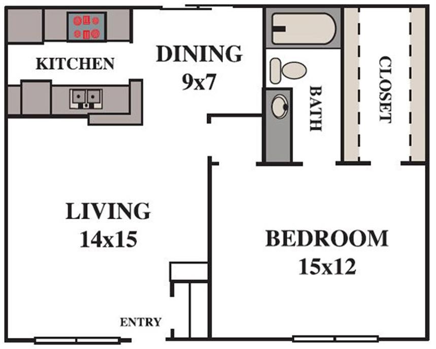 739 sq. ft. floor plan
