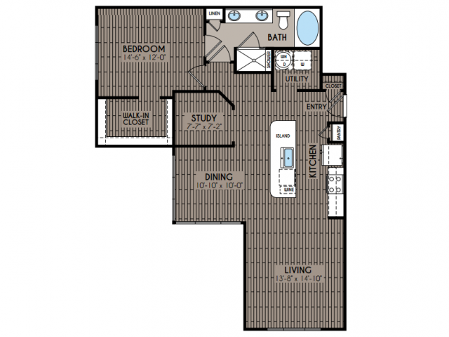 1,106 sq. ft. Helen floor plan