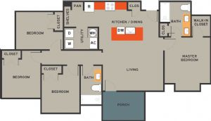 1,312 sq. ft. 60% floor plan
