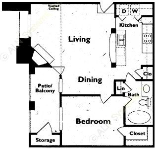 728 sq. ft. floor plan