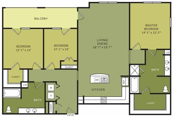 1,576 sq. ft. floor plan