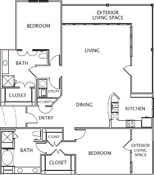 1,900 sq. ft. Lucia floor plan