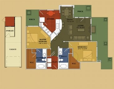 1,187 sq. ft. Sage floor plan