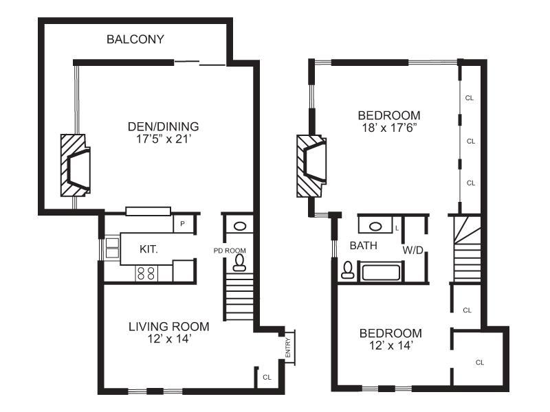1,369 sq. ft. B6 floor plan