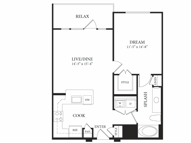 778 sq. ft. Grand Palais floor plan