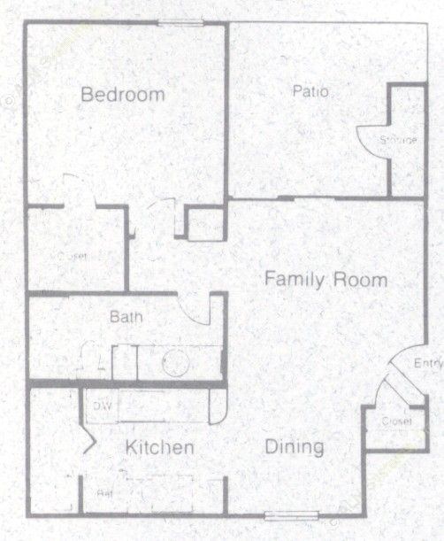 605 sq. ft. 60% floor plan