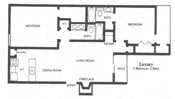 963 sq. ft. ALAMO floor plan