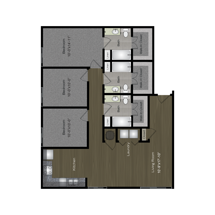 1,359 sq. ft. ACL floor plan
