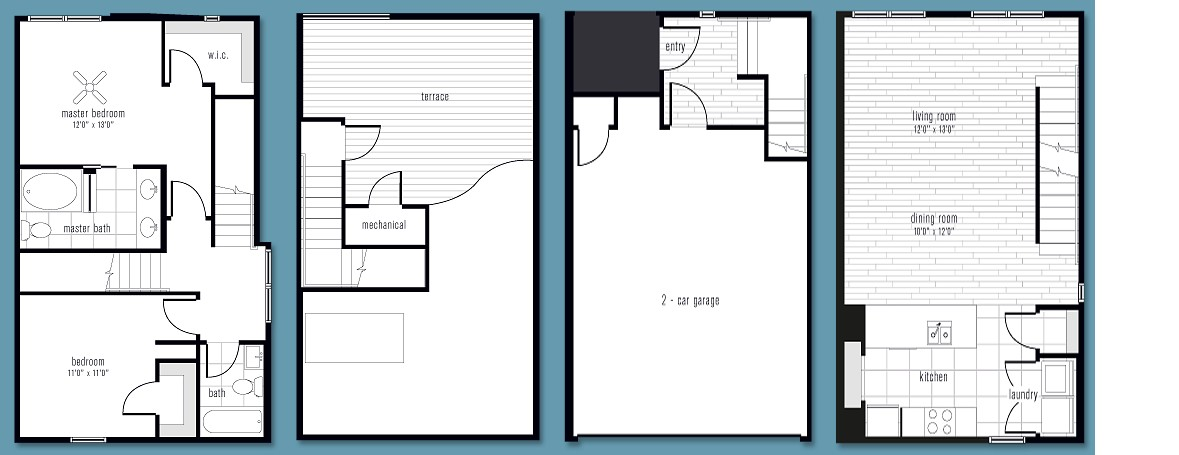 1,384 sq. ft. BB3 floor plan
