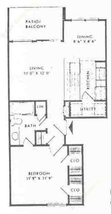 620 sq. ft. A floor plan