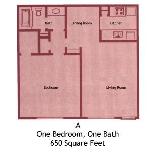 775 sq. ft. A floor plan