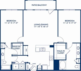1,344 sq. ft. B4 floor plan