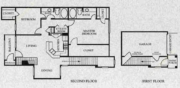 1,017 sq. ft. B1 floor plan