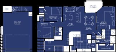 1,578 sq. ft. Nebula floor plan