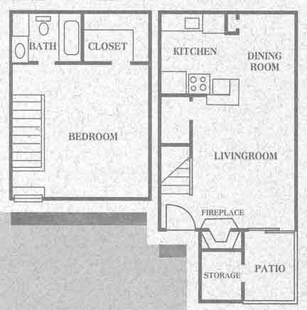 775 sq. ft. Cypress floor plan