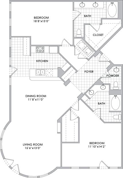 1,754 sq. ft. B14 floor plan