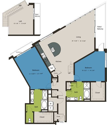 2,124 sq. ft. B2-L1 floor plan