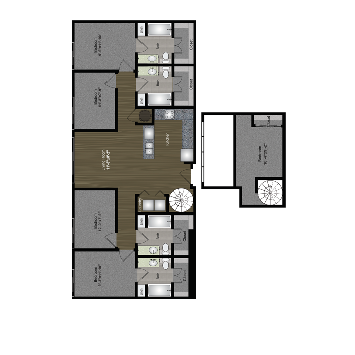 1,582 sq. ft. Capitol Loft floor plan