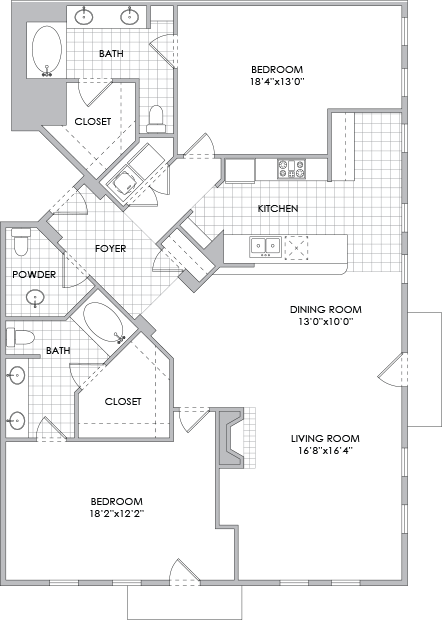 1,723 sq. ft. B11 floor plan