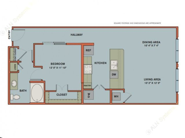 865 sq. ft. A11 floor plan