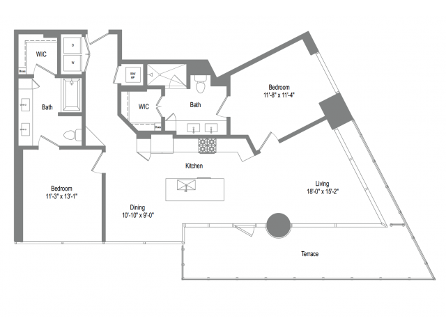 1,269 sq. ft. B6B floor plan