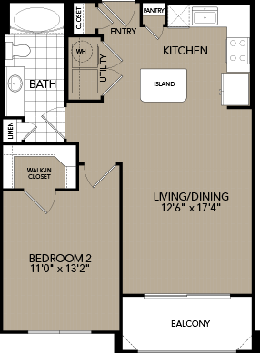 726 sq. ft. A4 floor plan