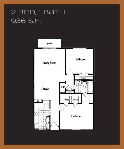 936 sq. ft. G floor plan