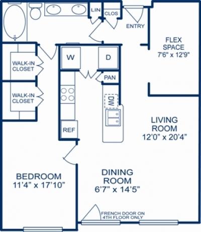 1,056 sq. ft. NEW ORLEANS floor plan
