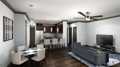 Living/Dining at Listing #281047