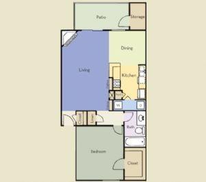 771 sq. ft. Ashland floor plan
