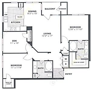 1,308 sq. ft. Sycamore floor plan