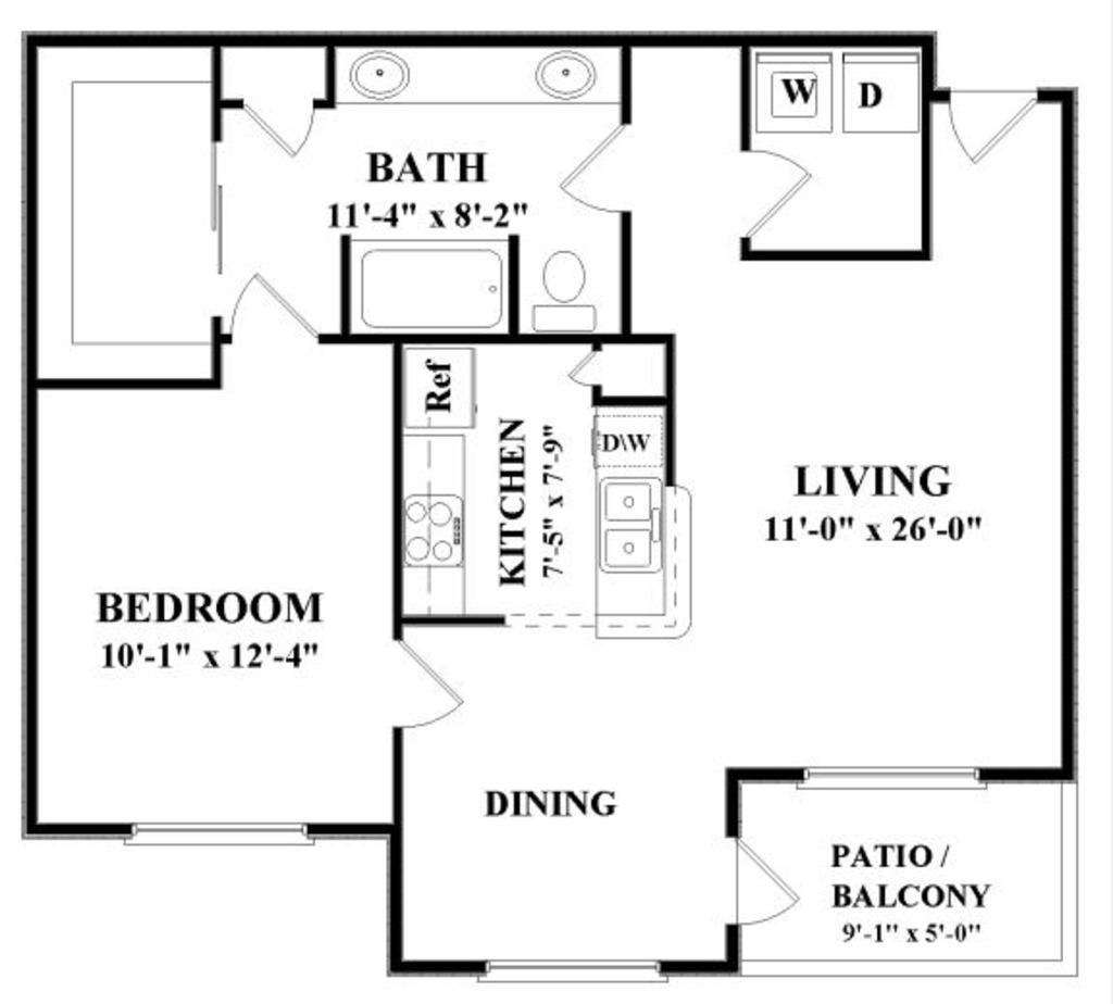 839 sq. ft. C floor plan