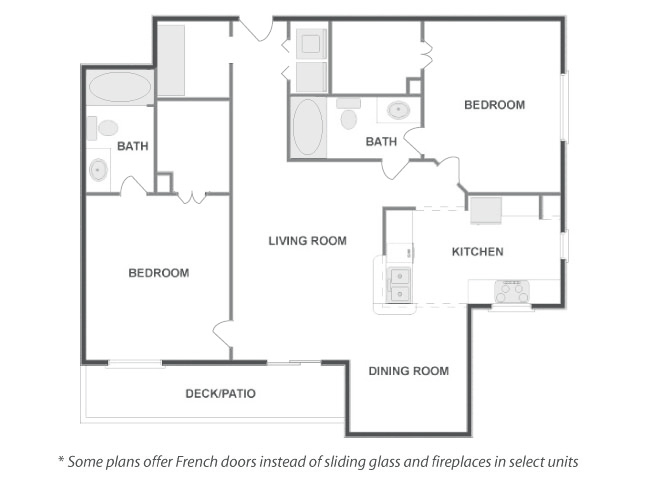 1,095 sq. ft. TAOS floor plan