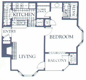562 sq. ft. ASTER floor plan