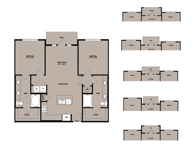 1,080 sq. ft. B1-I.10 floor plan
