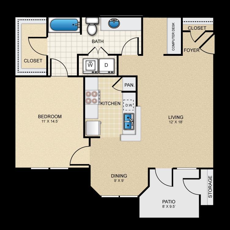 847 sq. ft. Comfort floor plan