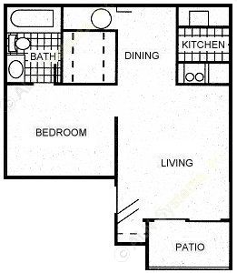 475 sq. ft. A1 floor plan