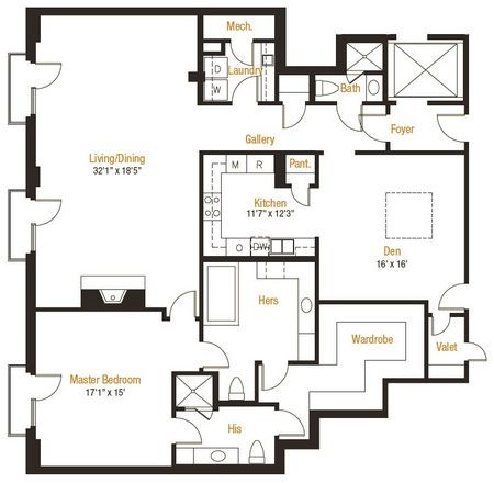 2,137 sq. ft. 12 floor plan