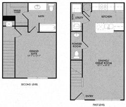 814 sq. ft. 60% floor plan