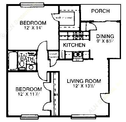 849 sq. ft. floor plan